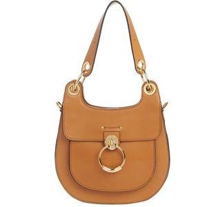 Chloe Medium Tess Brown Leather Shoulder Bag